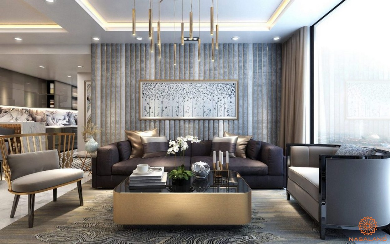 Thiết kế sang trọng tại phòng khách của dự án căn hộ Sunshine City Sài Gòn quận 7