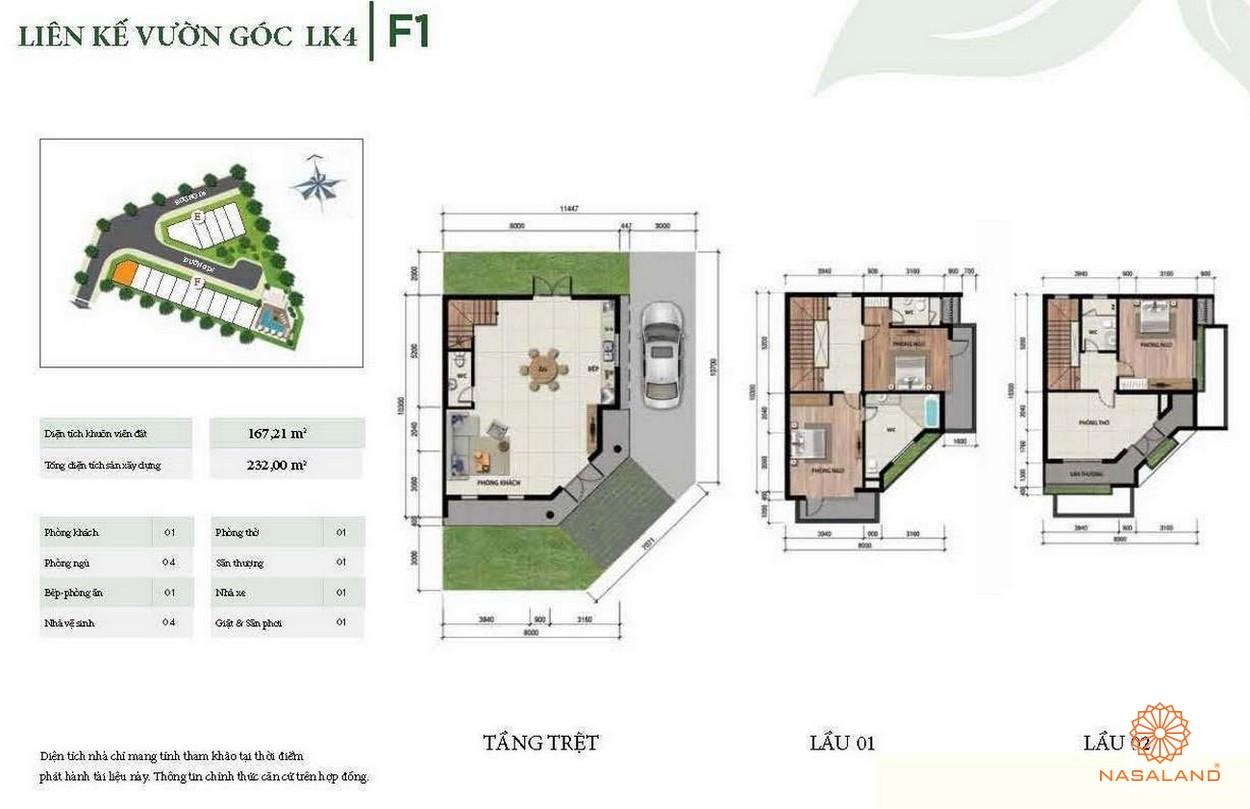 Thiết kế liên kế vườn góc LK4
