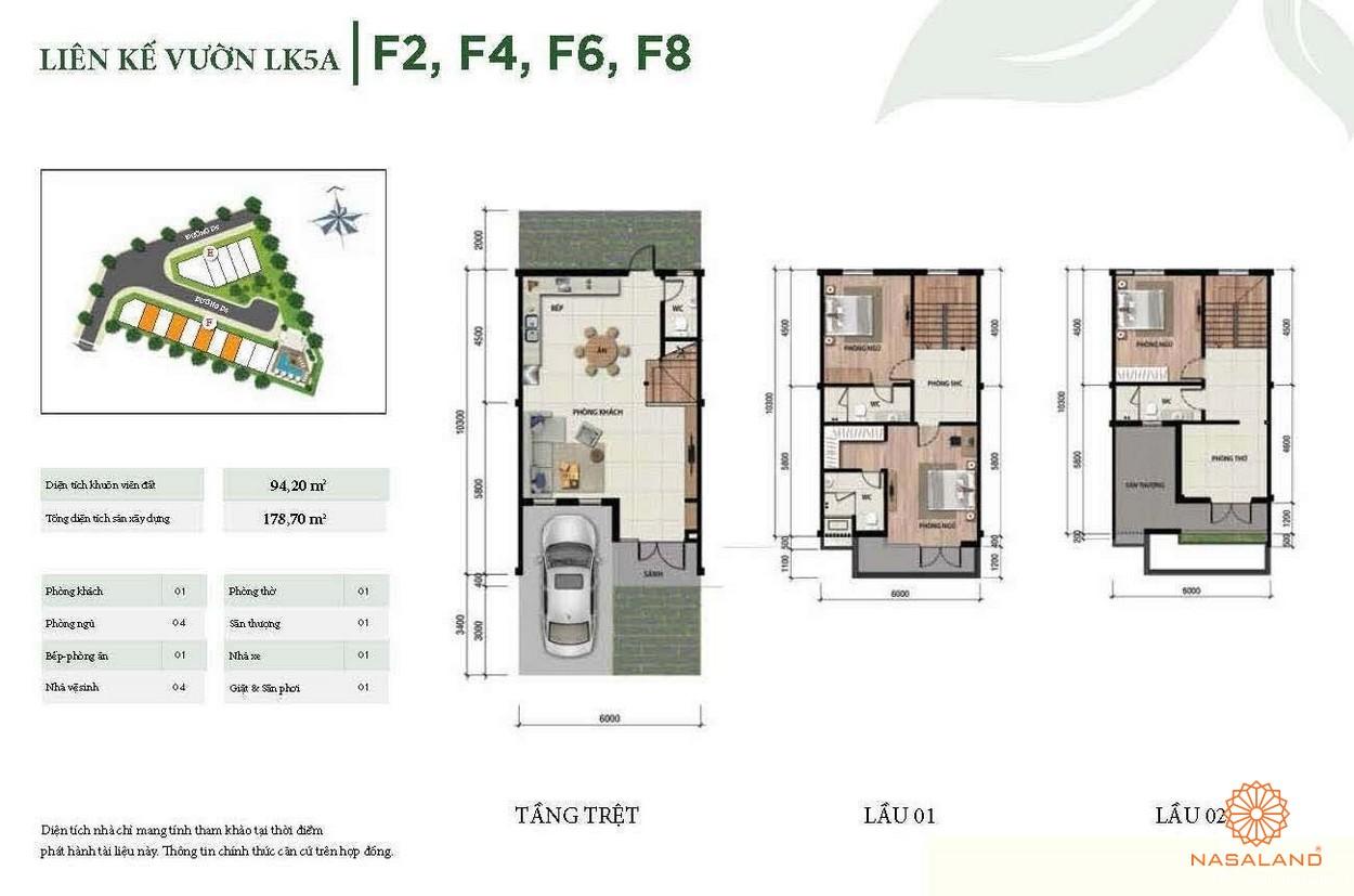Thiết kế liên kế vườn góc LK5A