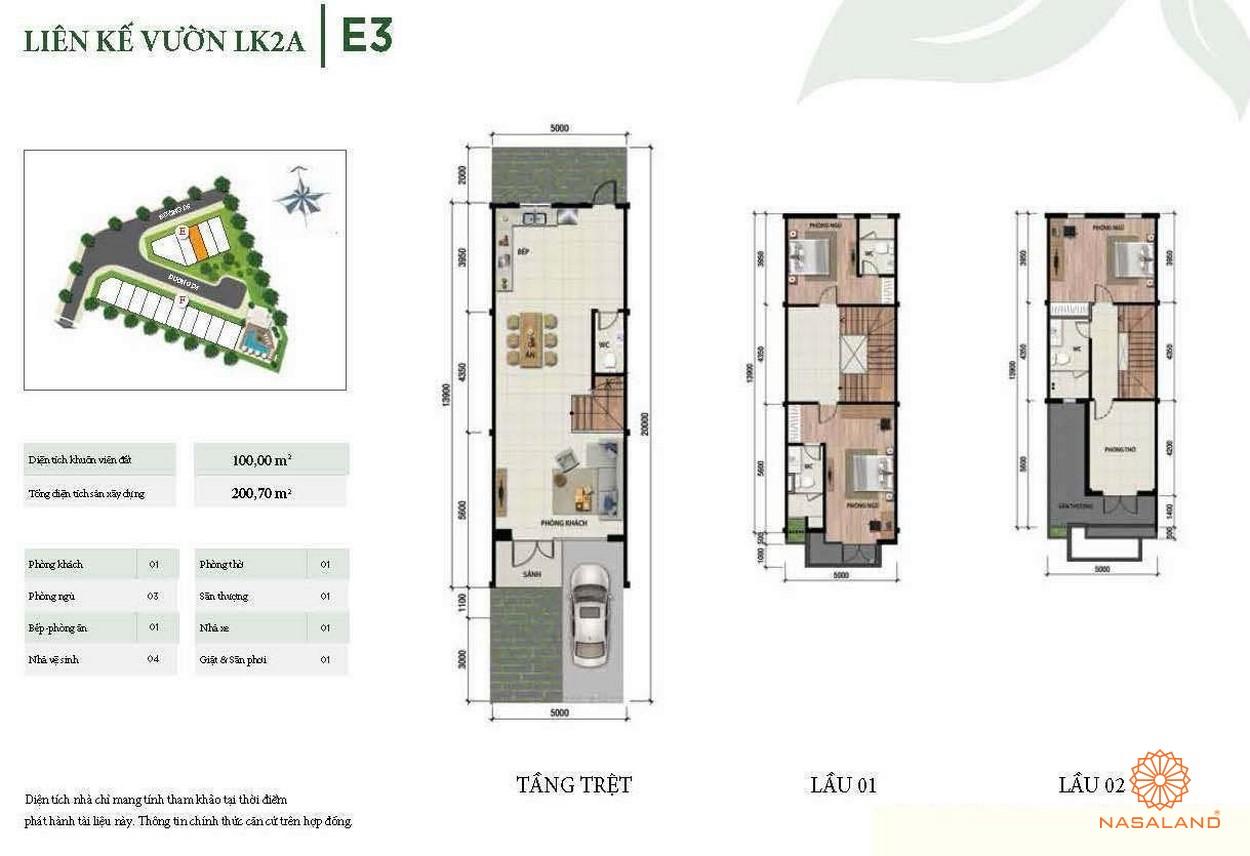 Thiết kế liên kế vườn góc LK2A