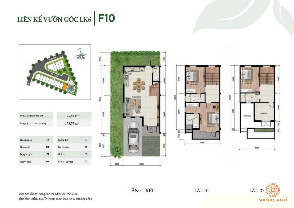 Thiết kế liên kế vườn góc LK6