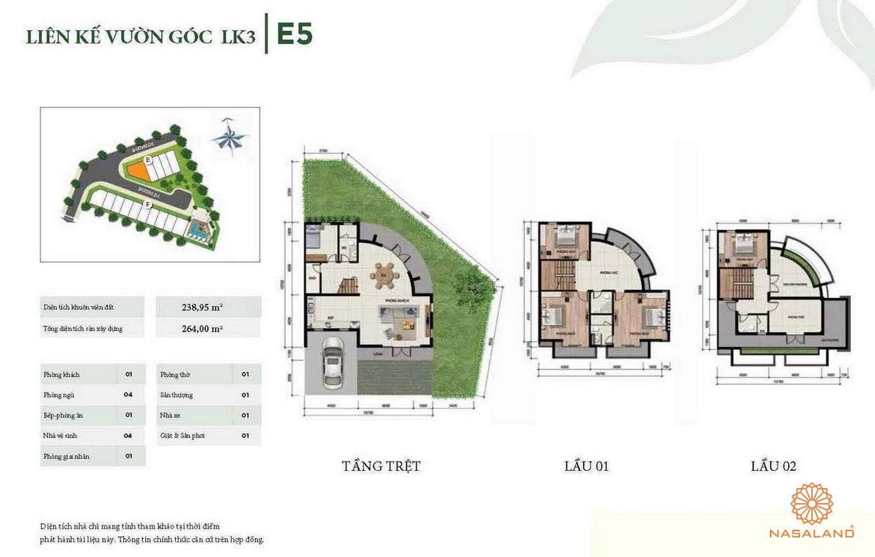 Thiết kế liên kế vườn góc LK3