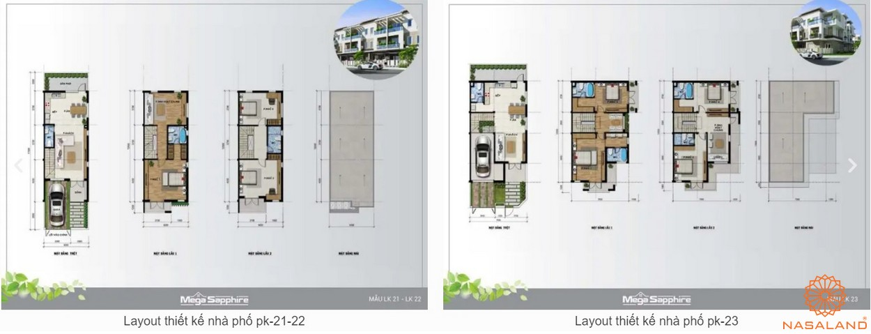 Thiết kế nhà phố 21, 22, 23