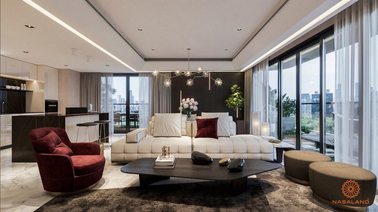 Thiết kế phòng khách sang trọng tại dự án Sunshine Continental quận 10