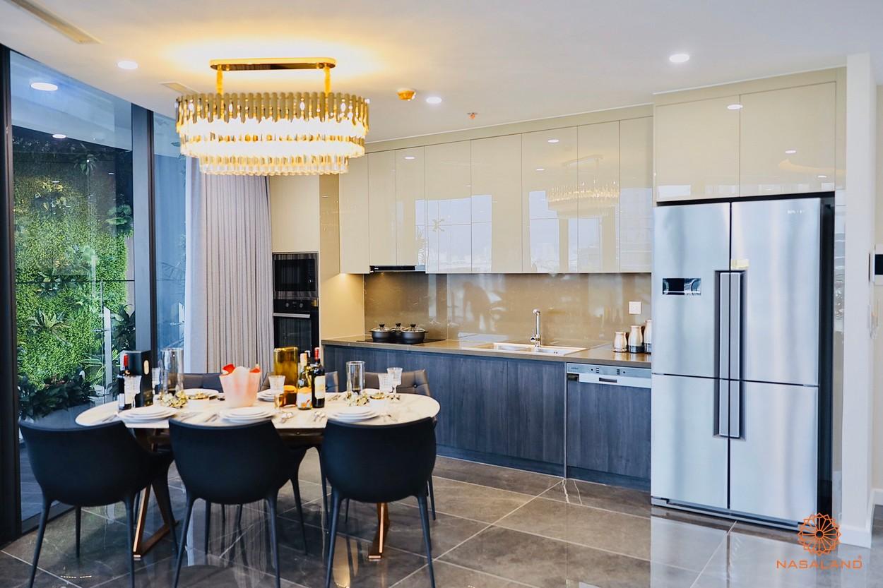 Thiết kế phòng bếp và bàn ăn tại dự án Sunshine Continental quận 10