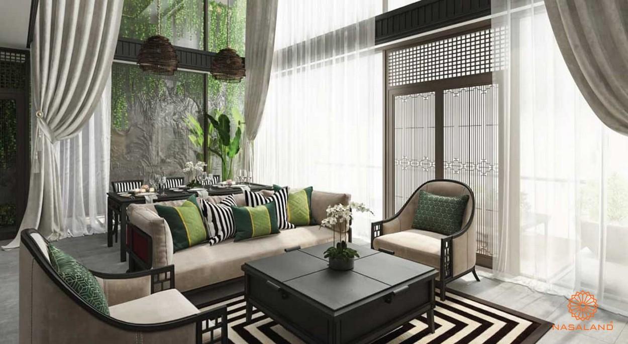 Thiết kế phòng khách tại dự án Sunshine Continental quận 10