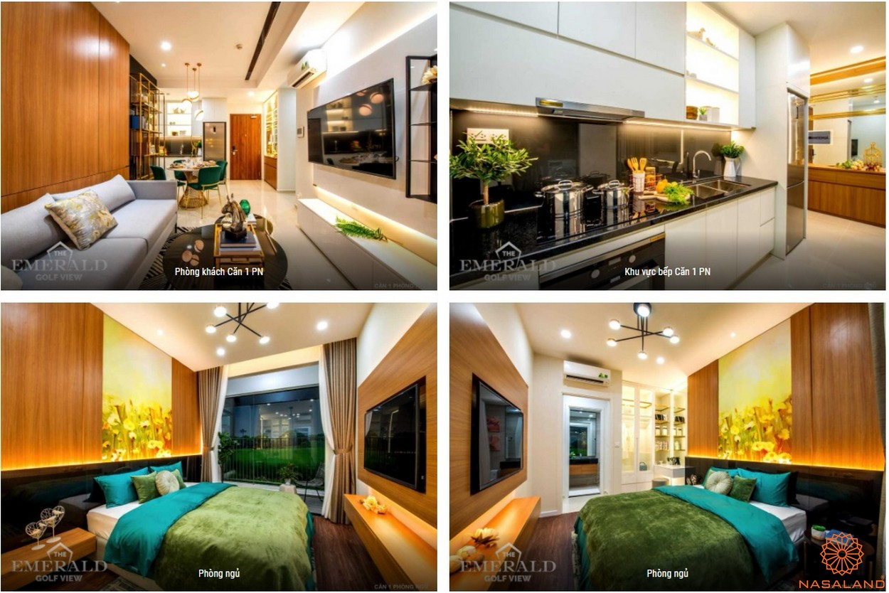Thiết kế dự án căn hộ The Emerald Golf View Bình Dương - 1PN