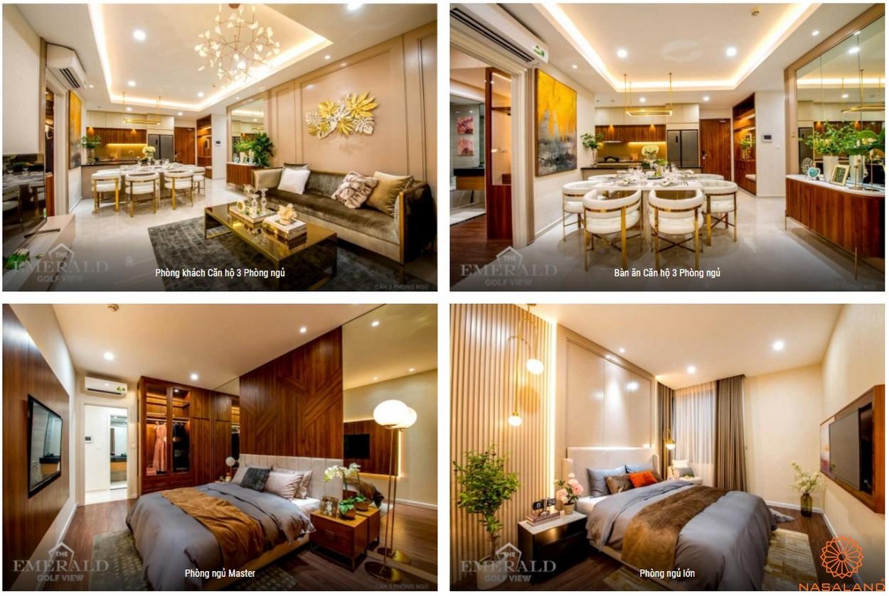 Thiết kế dự án căn hộ The Emerald Golf View Bình Dương - 3PN