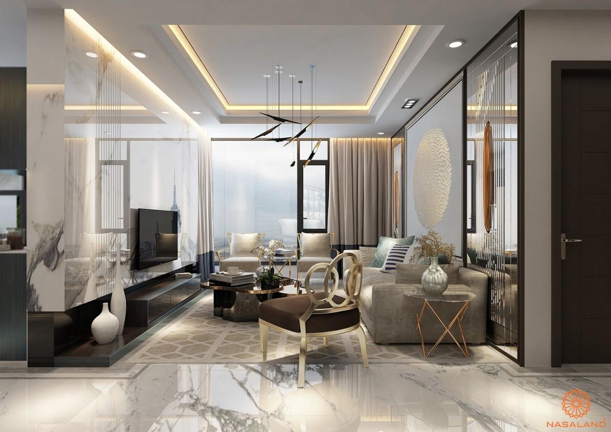 Thiết kế phòng khách tại dự án căn hộ Sunshine City Sài Gòn quận 7