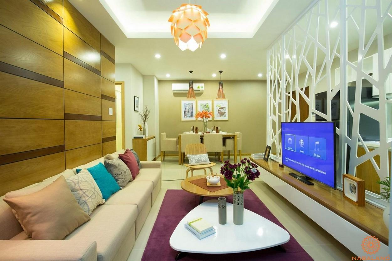 Thiết kế dự án căn hộ Jamona City quận 7 phòng khách