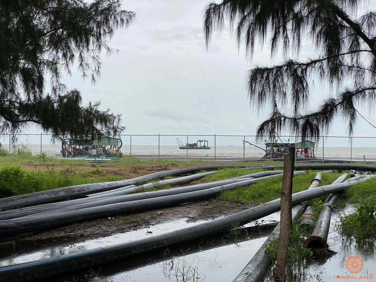 Tiến độ Vinhomes Cần Giờ - nơi đặt hệ thống đường ống