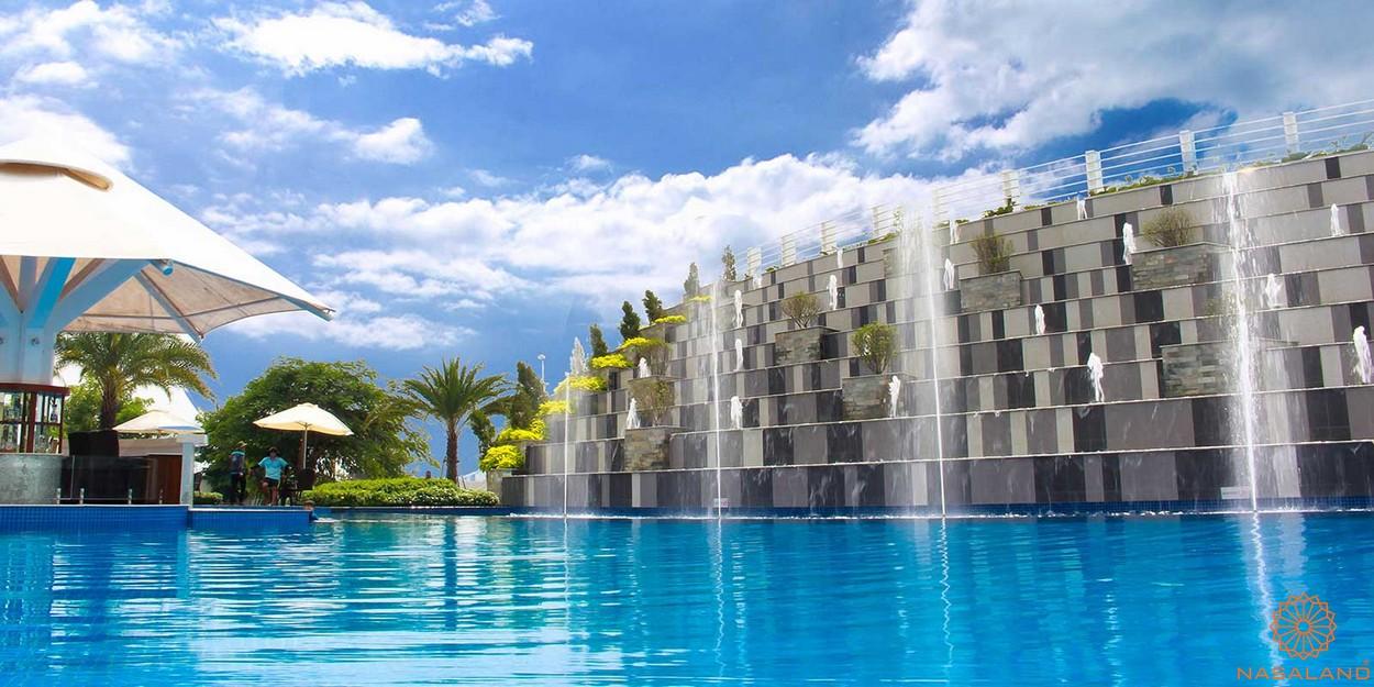 tiện ích dự án - thác nước nhân tạo Singapore cùng hồ bơi tràn viền