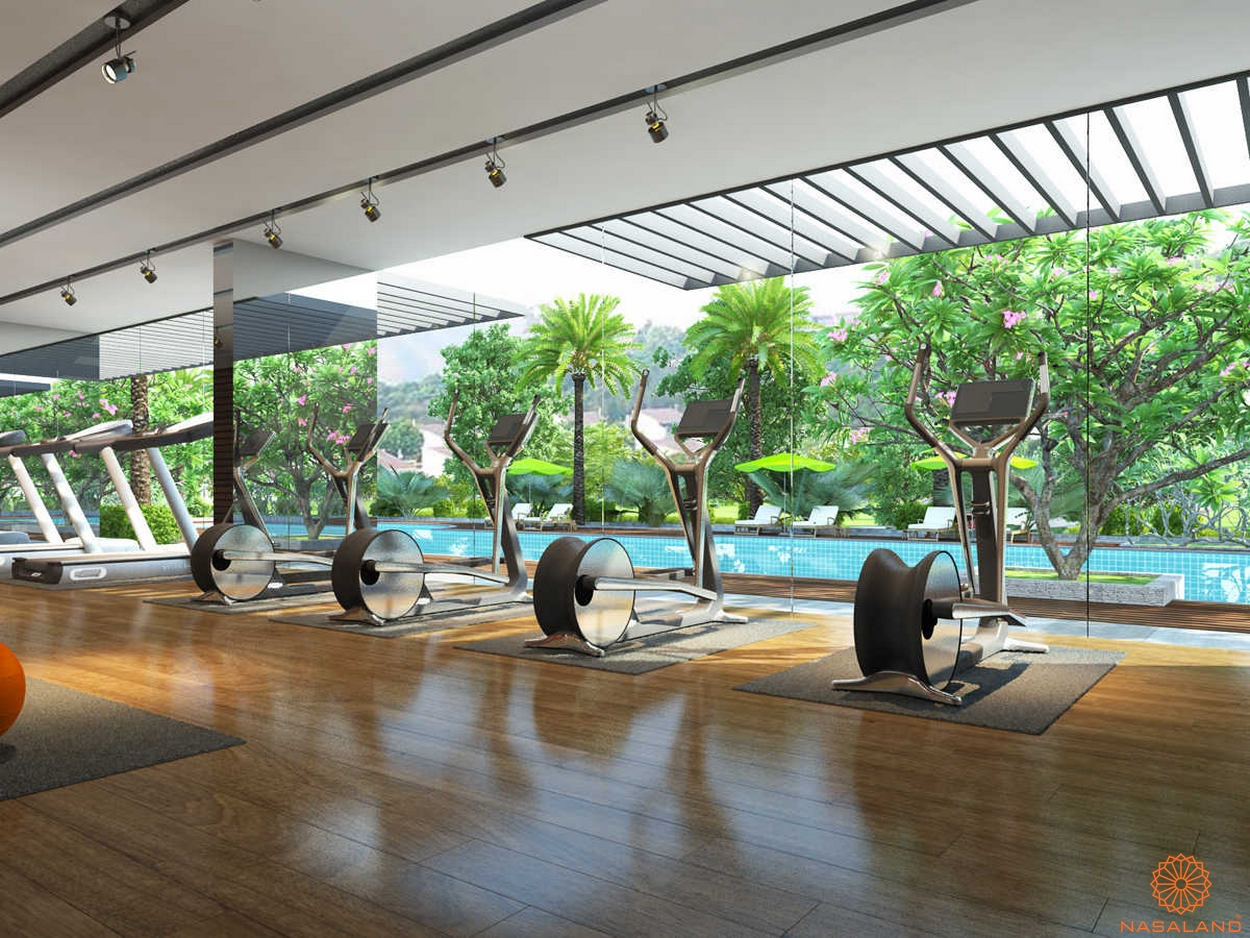 Tiện ích tại dự án Nine South Estates phòng gym