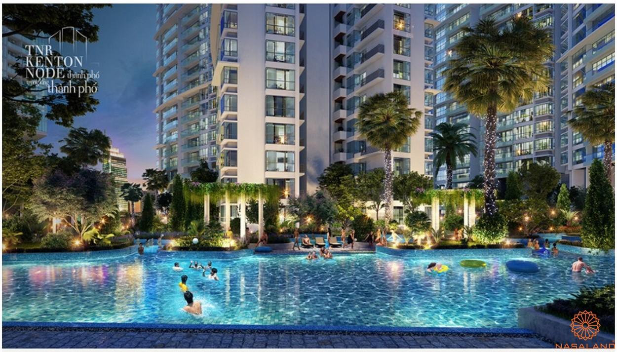 Tiện ích dự án căn hộ TNR Kenton Node quận 7 - Hồ bơi triệu đô