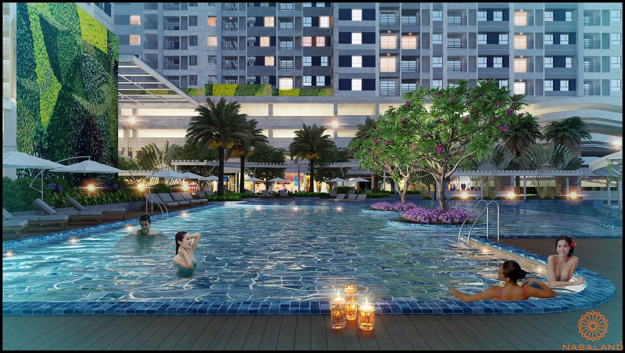 Tiện ích căn hộ chung cư Central Premium - Hồ bơi