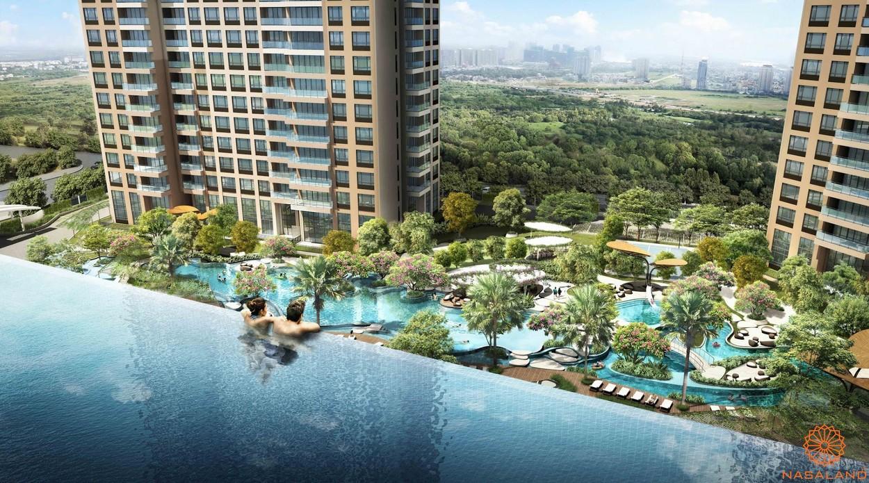 Tiện ích căn hộ chung cư Central Premium - Hồ bơi sky view