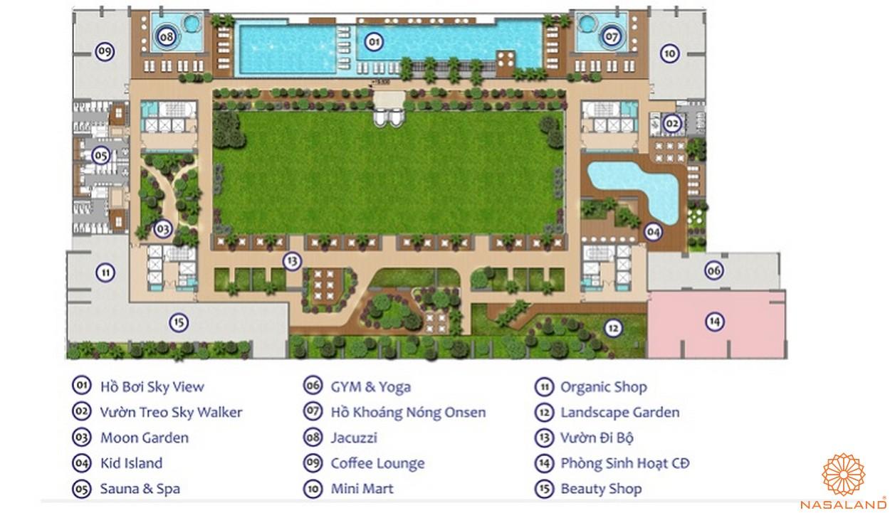 Mặt bằng tiện ích dự án căn hộ Green Star Sky Garden Quận 7