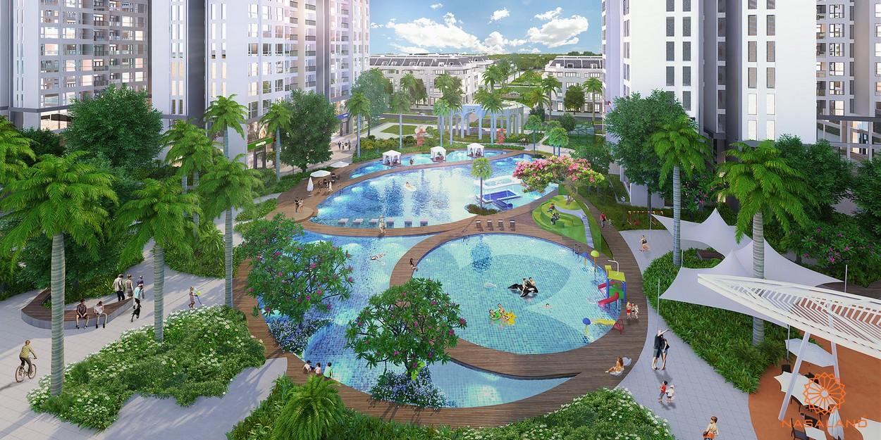 Hồ bơi giữa lòng dự án - tiện ích nội khu