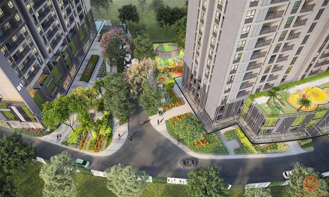 Tiện ích công viên nội khu dự án căn hộ Opal Skyline