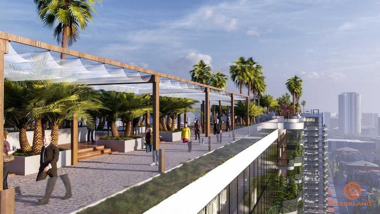 Khu vực đi bộ và công viên tại sân thượng dự án Sunshine Continental quận 10