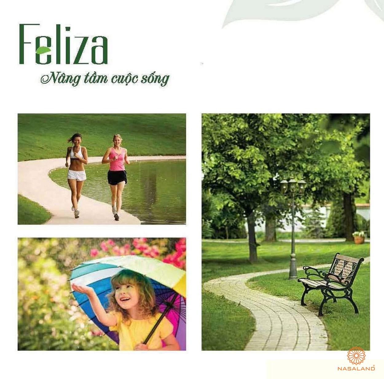 Tiện ích nội khu Feliza - đường chạy bộ ven sông