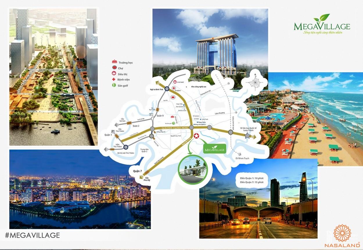 Tiện ích tổng quan tại dự án Mega Village quận 9