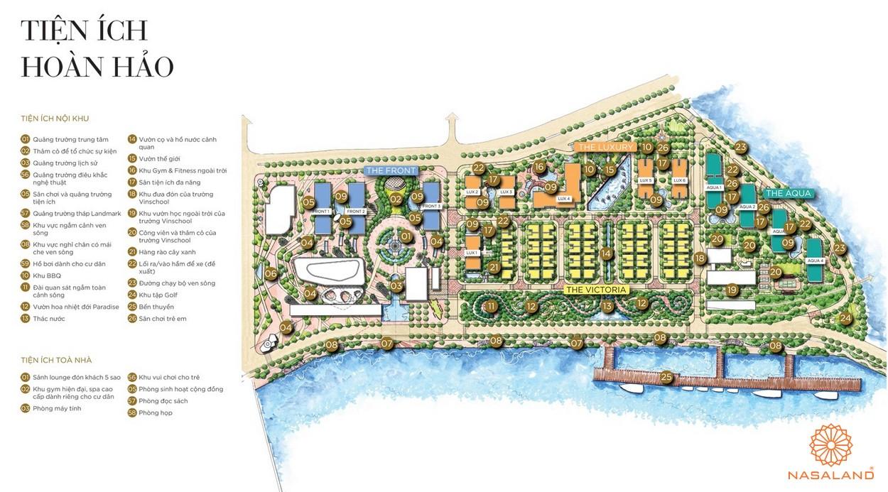 Mặt bằng tiện ích dự án căn hộ One Alpha Riverside quận 1