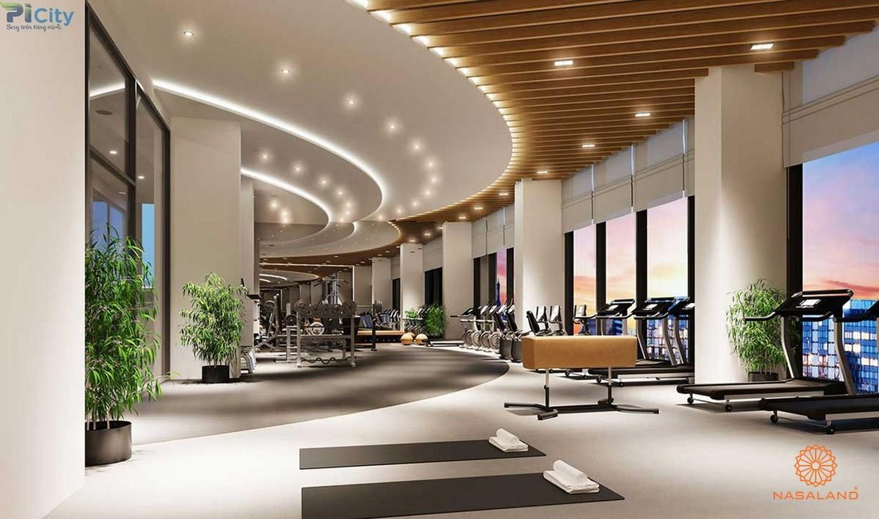 Tiện ích căn hộ Picity High Park quận 12 - phòng gym cùng view hướng về khu dân cư