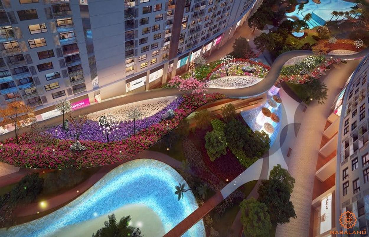Tiện ích đường hoa nội khu nội khu dự án căn hộ River City