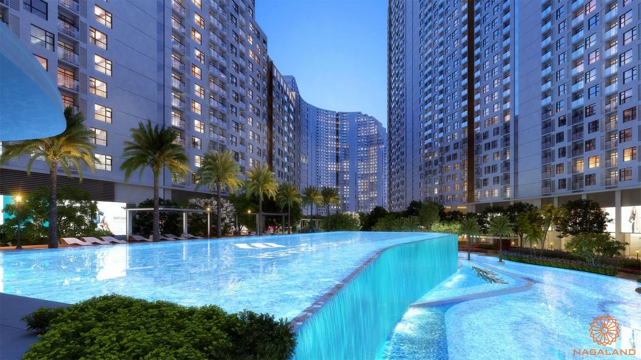 Tiện ích hồ bơi nội khu dự án căn hộ River City