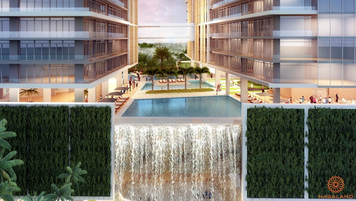 Tiện ích hồ bơi tràn bờ của dự án căn hộ West Gate