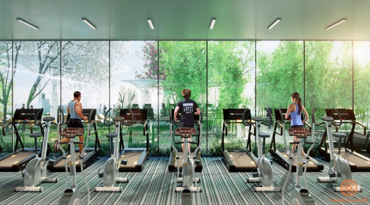 Tiện ích phòng Gym dự án căn hộ Topaz Elite quận 8