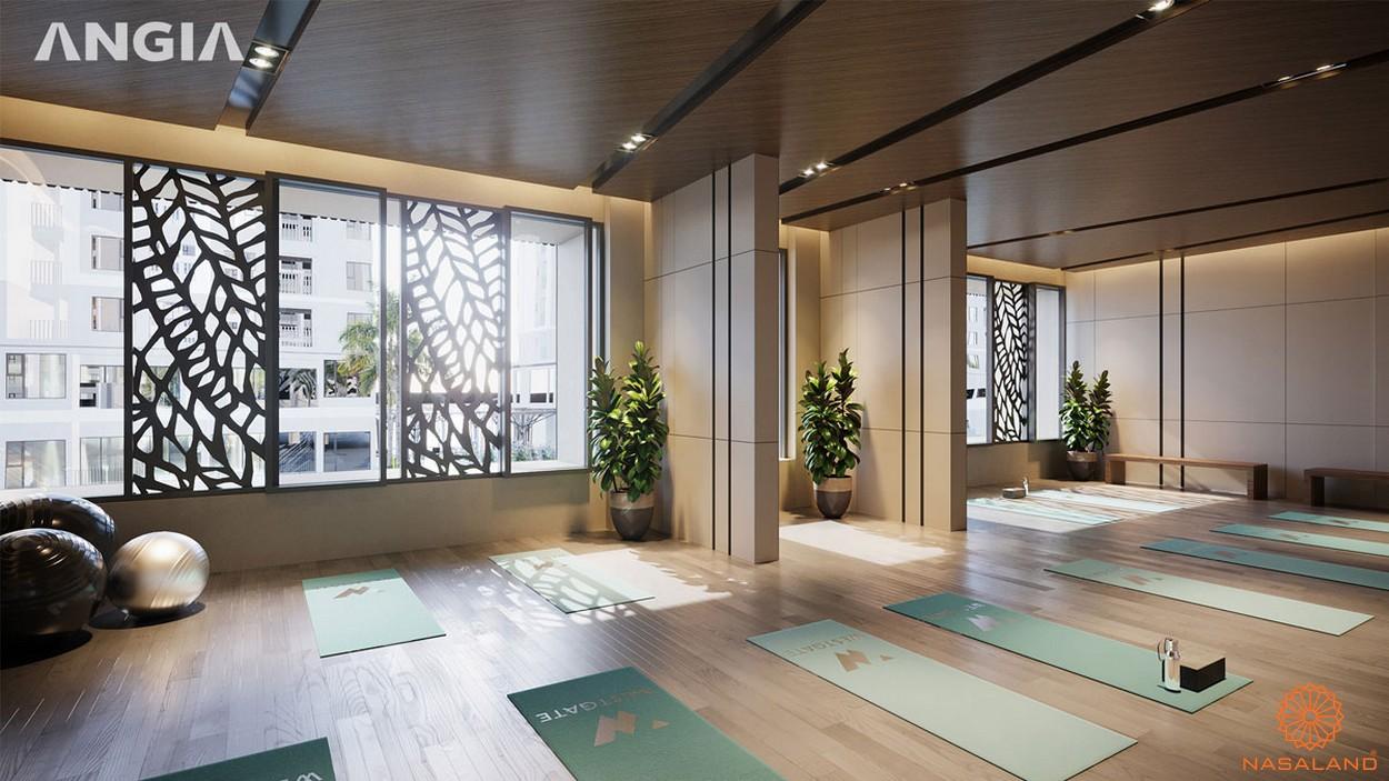 Tiện ích phòng yoga của dự án căn hộ West Gate