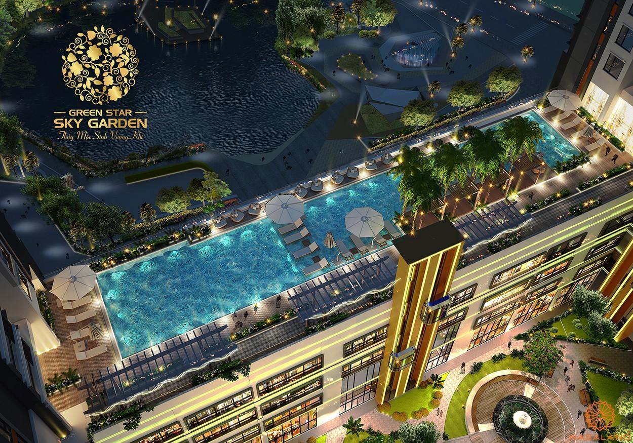 Tiện ích dự án căn hộ Green Star Sky Garden Quận 7 - Hồ bơi sky view