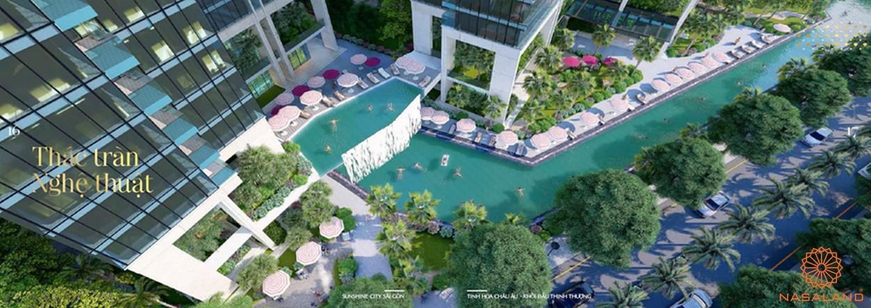 Ảnh tiện ích thác tràn nghệ thuật - tiện ích dư án căn hộ Sunshine City Sài Gòn quận 7