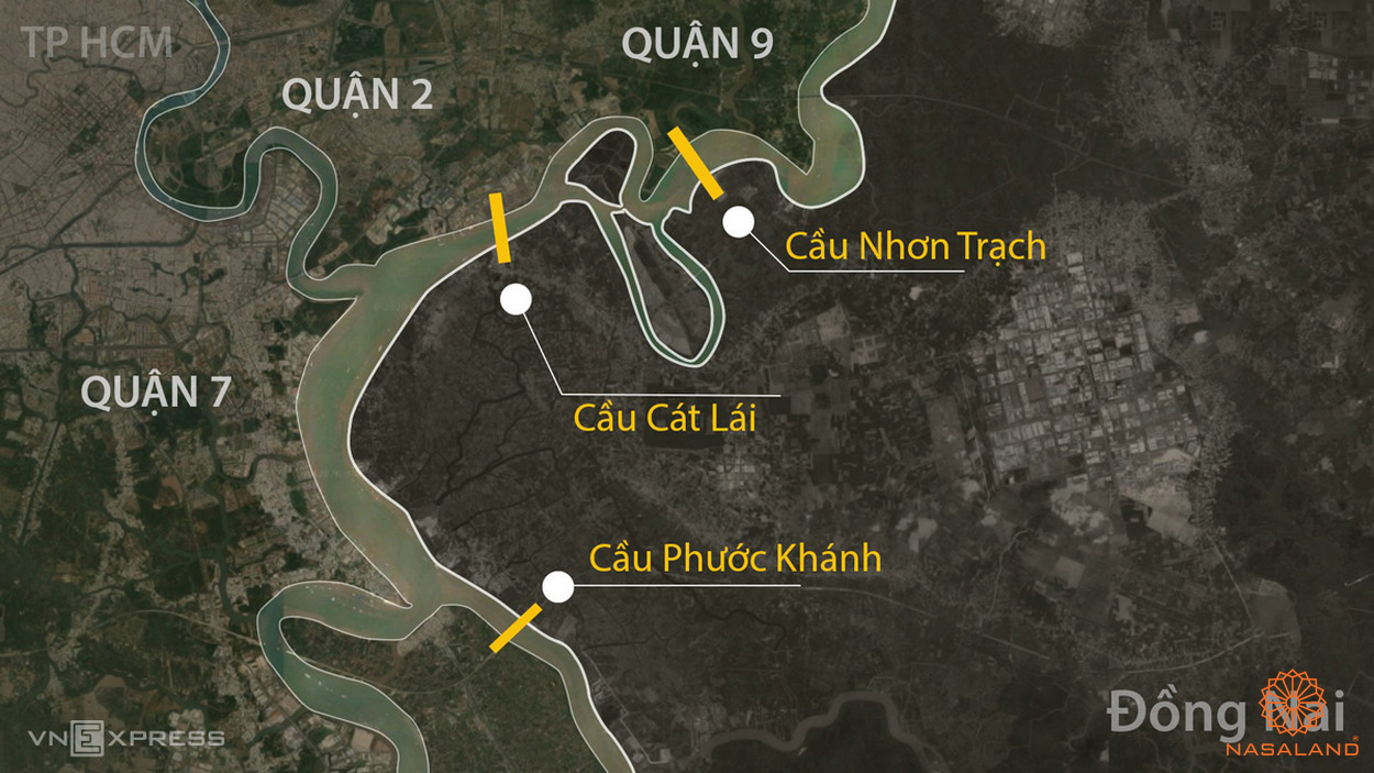 Tiện ích Vinhomes quận 9 - Bản đồ các cây cầu nổi tiếng
