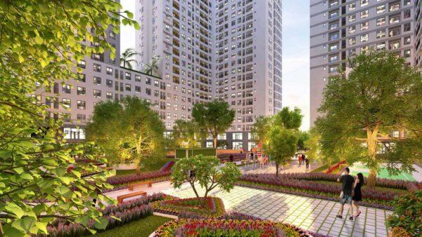 Tiện ích vườn dạo bộ của dự án căn hộ West Gate