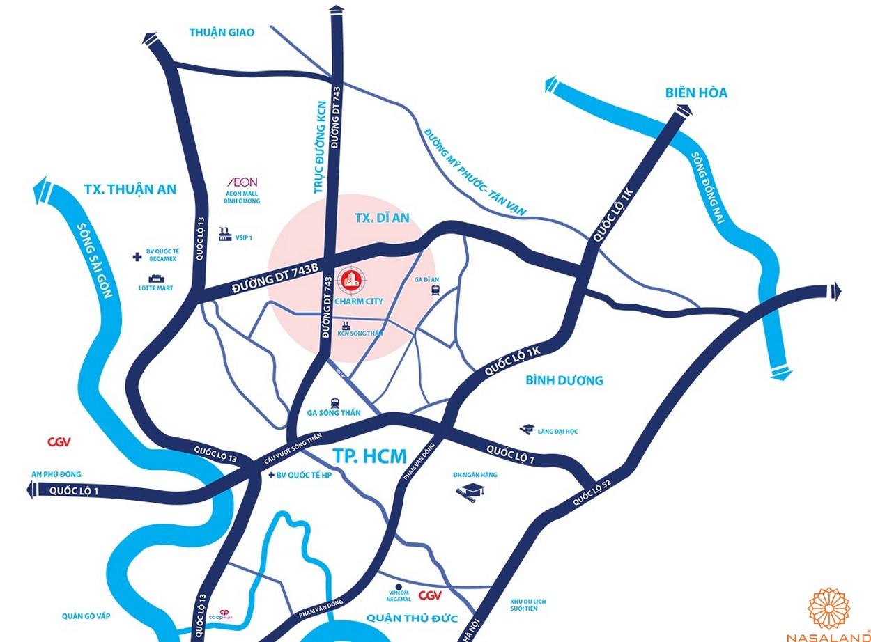 Vị trí dự án căn hộ Charm City