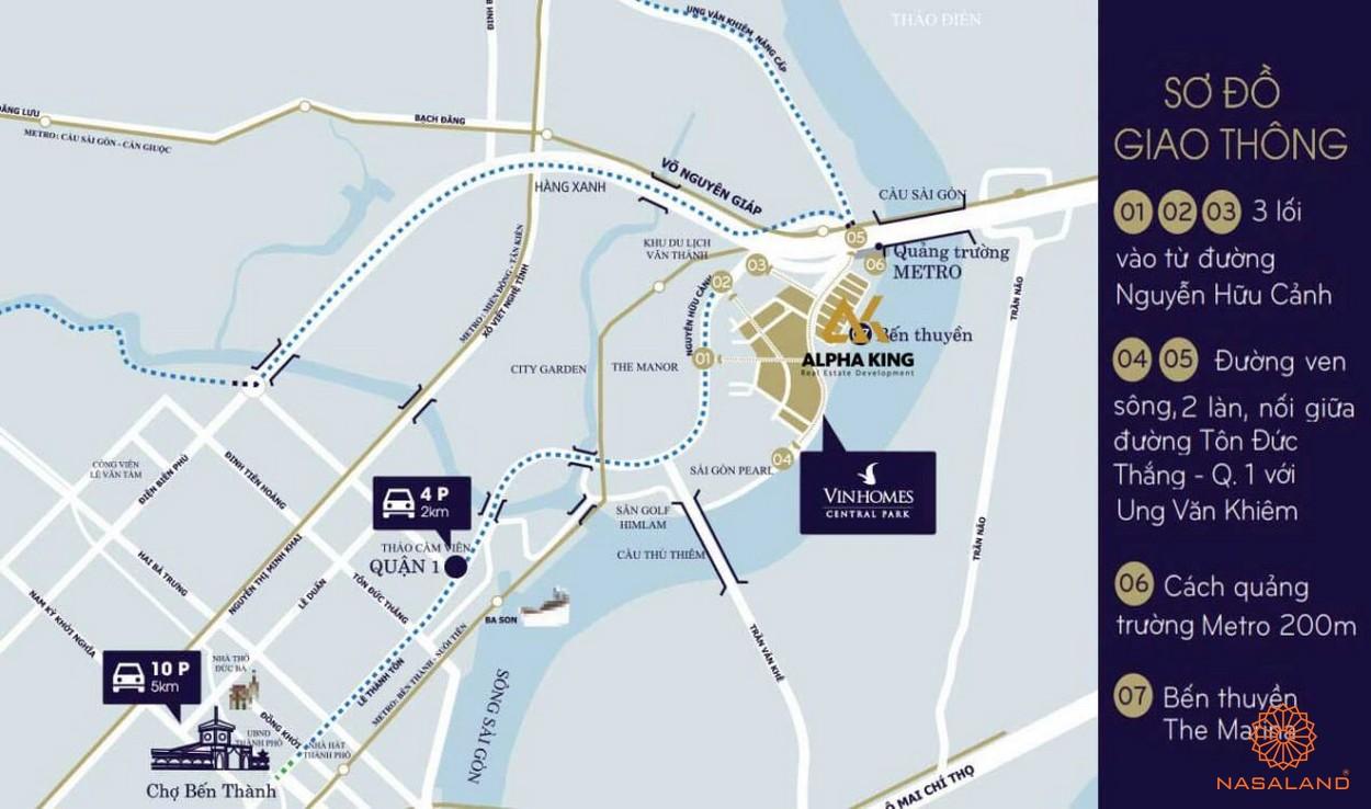 Vị trí dự án căn hộ One Alpha Riverside quận 1