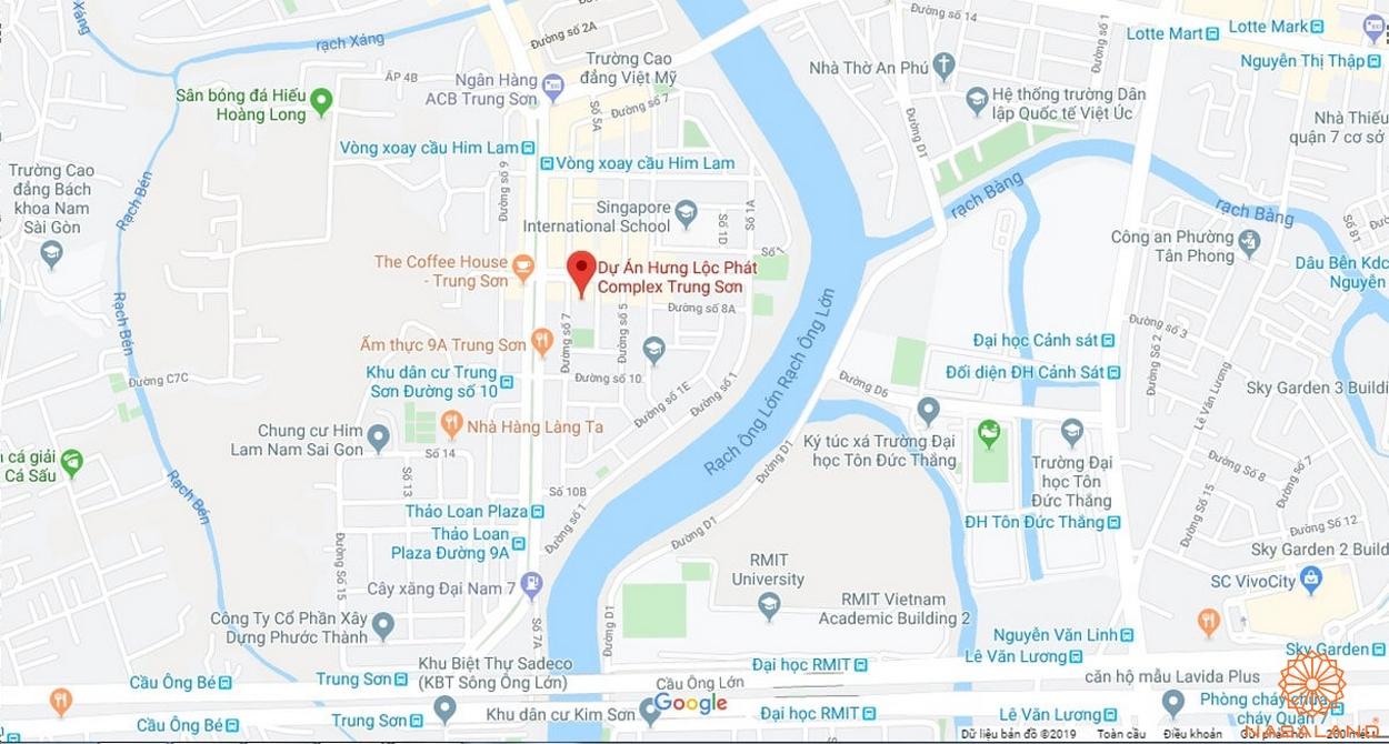 vị trí Hưng Lộc Phát Complex
