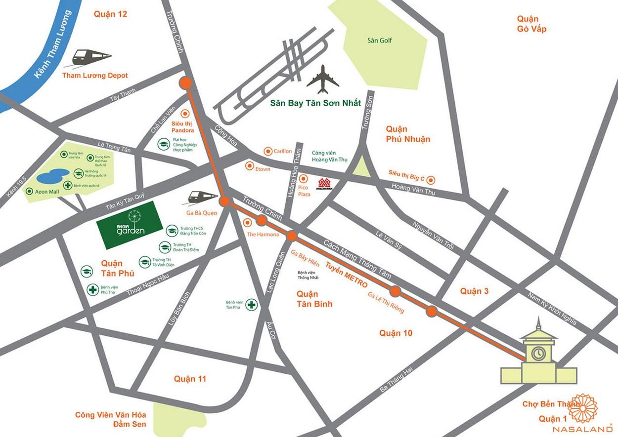 Vị trí địa chỉ dự án căn hộ An Gia Garden Quận Tân Phú