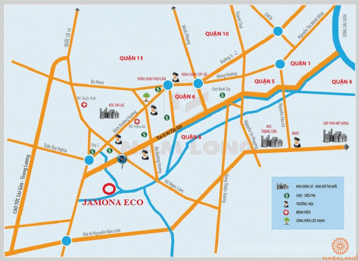 Vị trí dự án căn hộ Jamona Eco quận 8