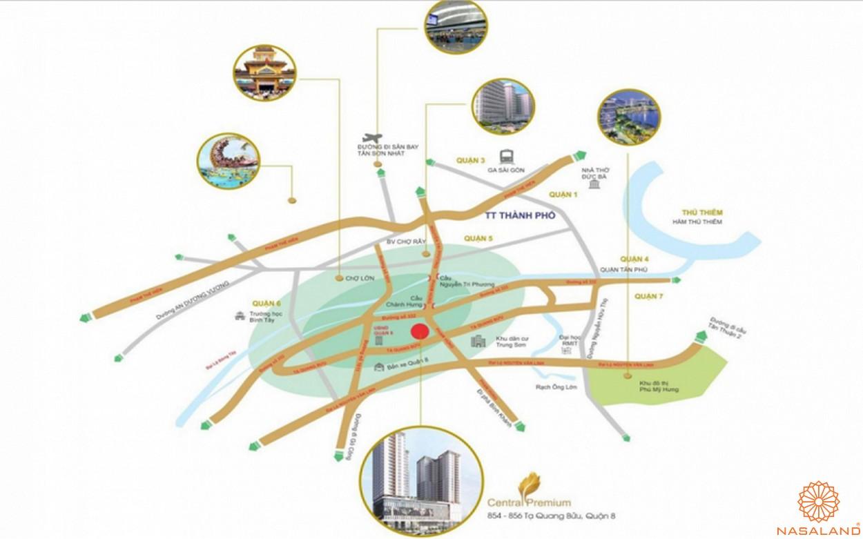 Vị trí căn hộ chung cư Central Premium