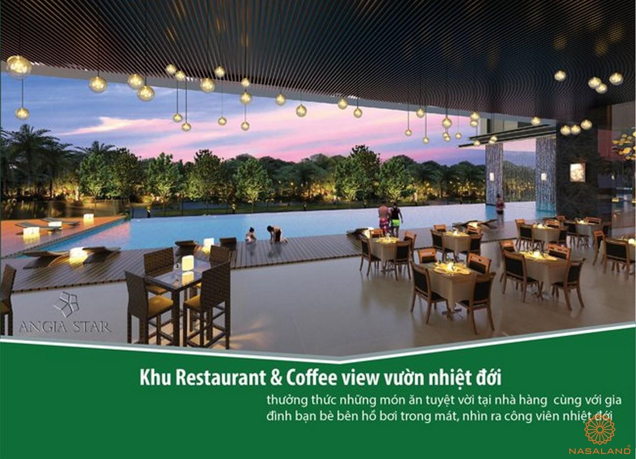 Tiện ích khu nhà hàng và coffee căn hộ An Gia Star