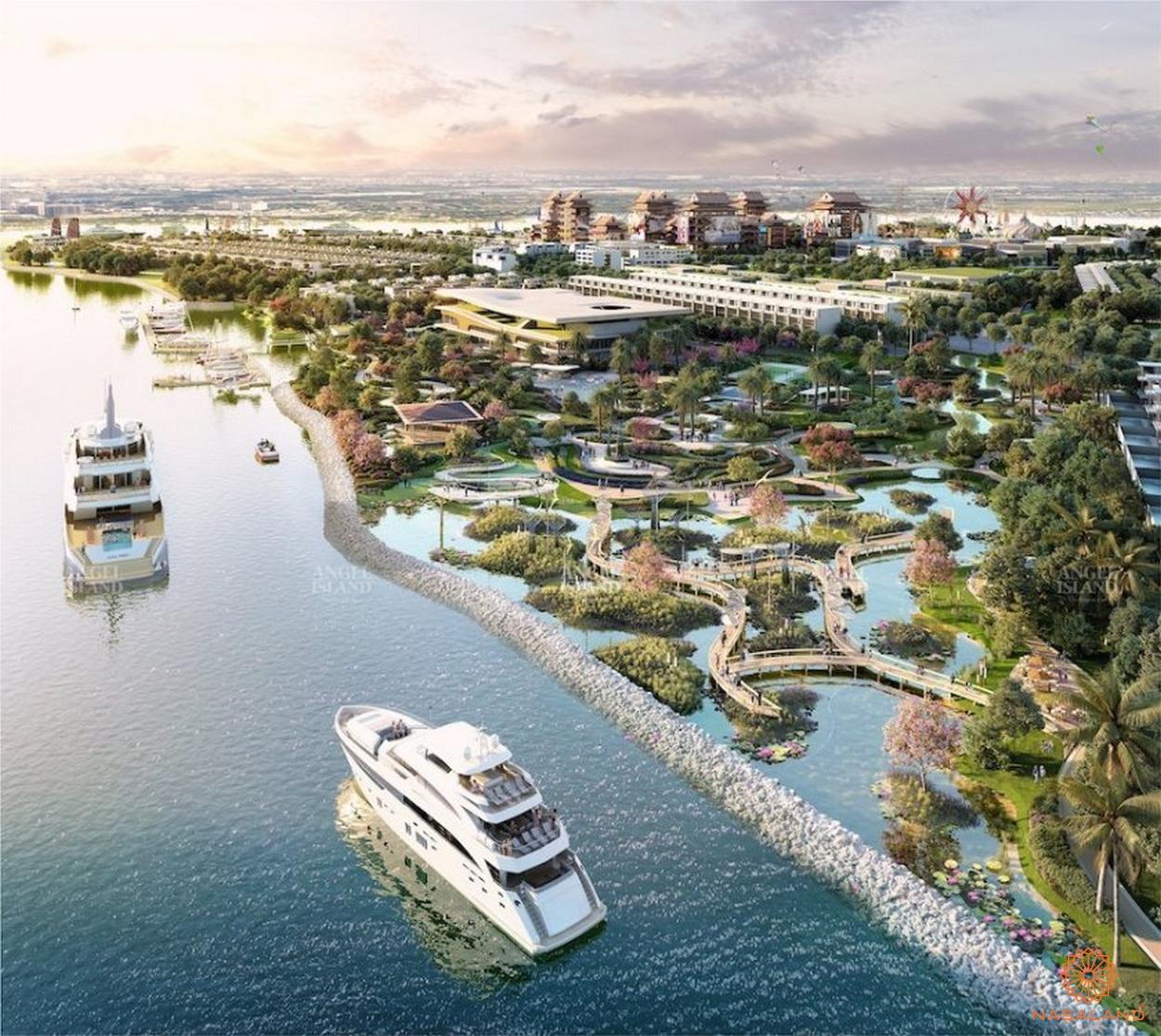 minh họa bến tàu thủy dự án Angel Island