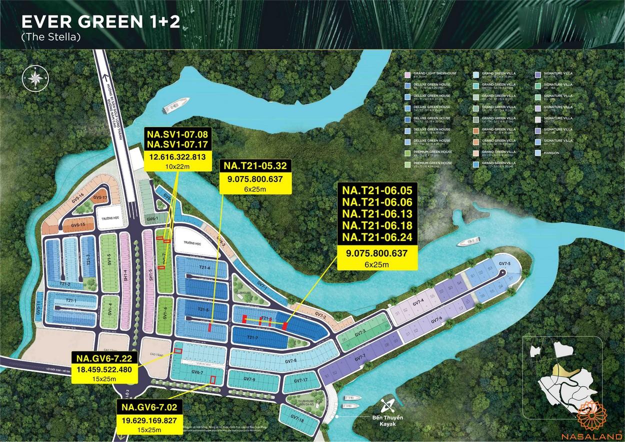 Mặt bằng dự án Aqua City Đảo Phượng Hoàng - The Stella