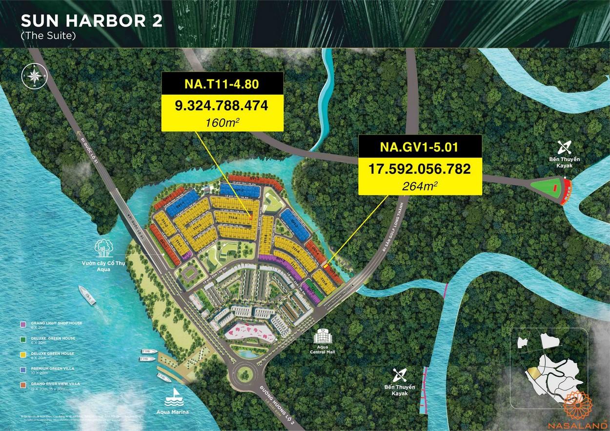 Mặt bằng dự án Aqua City Đảo Phượng Hoàng - The Suite