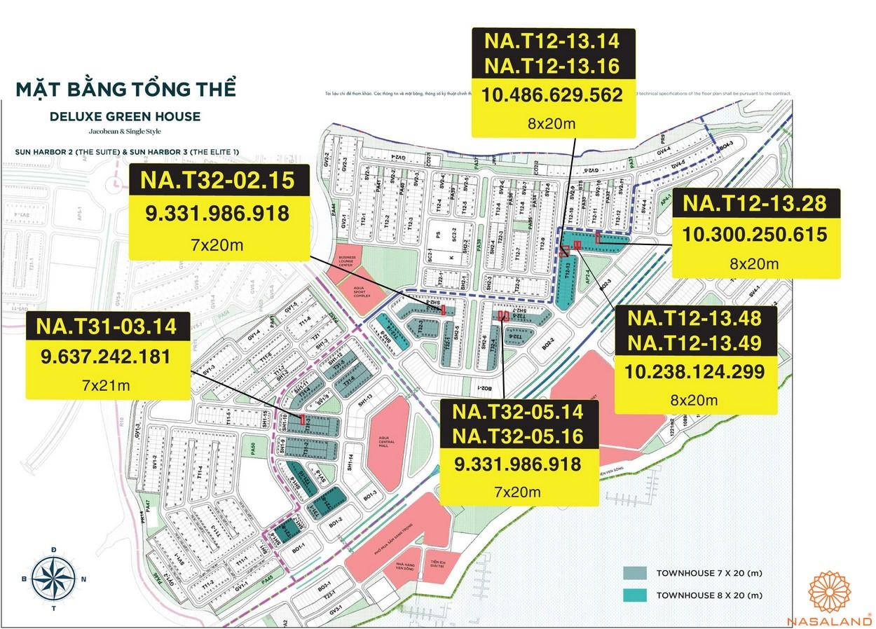 Mặt bằng dự án Aqua City Đảo Phượng Hoàng - tổng thể