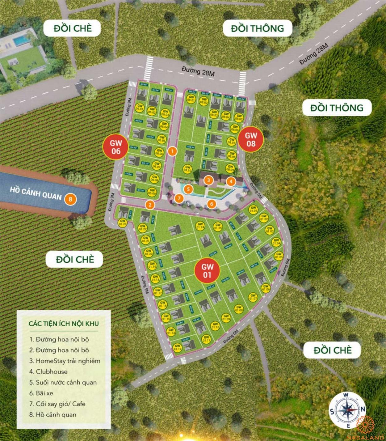 Mặt bằng tổng thể dự án Bảo Lộc Greenwich Lâm Đồn