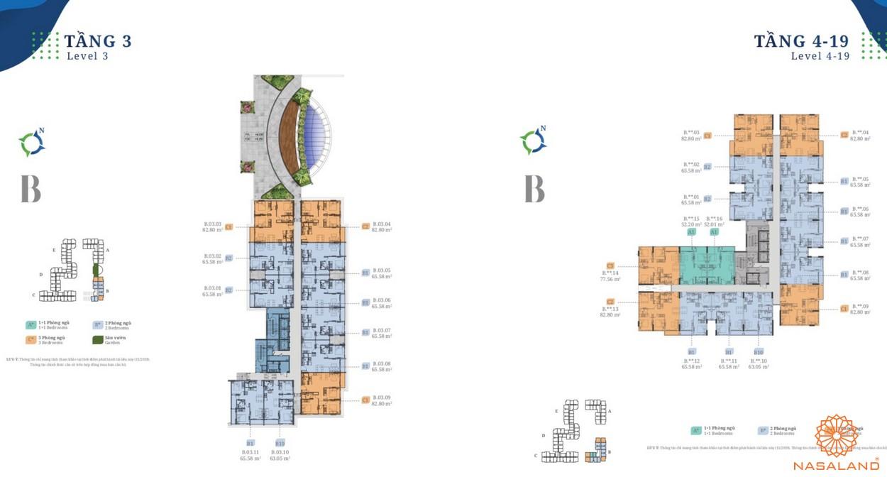Mặt bằng block B dự án căn hộ Lovera Vista Bình Chánh
